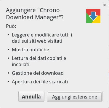 Chrono Download Manager - Installazione