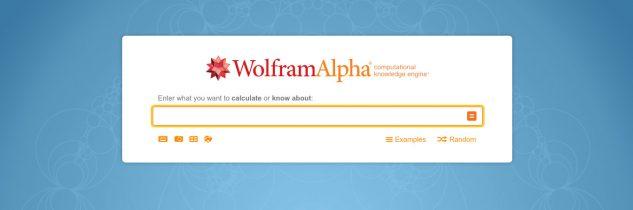 Wolfram Alpha Commands List