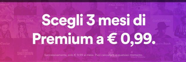 Spotify Premium a soli 0.99€ per tre mesi