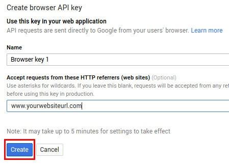 Google Maps APIs - Generate a key