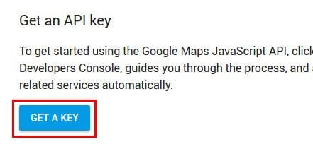 Google Maps API - Get a key