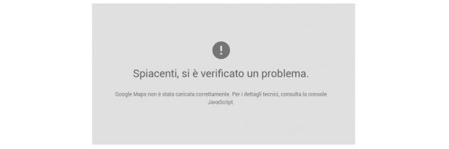 Google Maps API error: UrlAuthenticationCommonError [RISOLTO]
