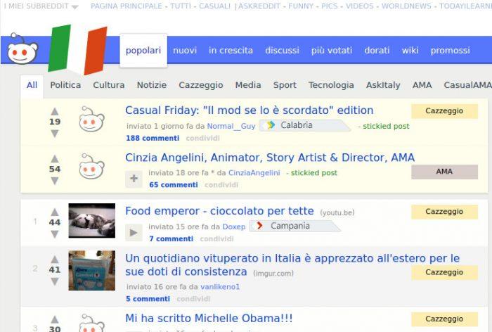 Reddit - Subreddit Italy
