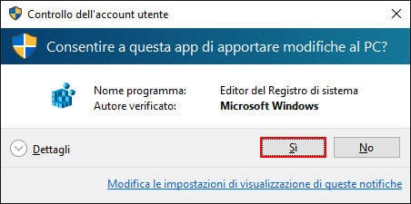 Windows 10 - Controllo dell'account utente