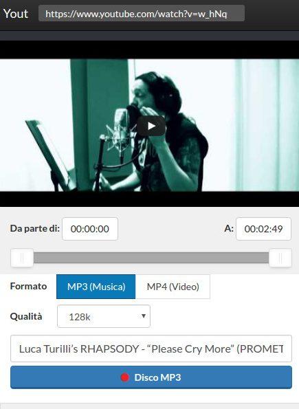 Yout screenshot - Scaricare musica e video da youtube