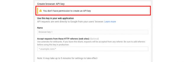 You don't have permission to create an API key [RISOLTO]