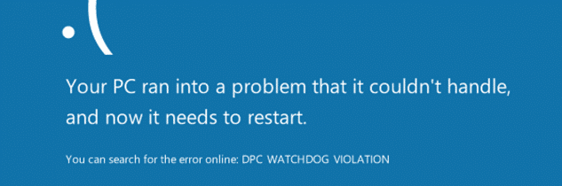 Dpc watchdog violation su Windows 10: come risolvere