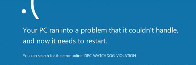 Dpc watchdog violation su Windows 10: come risolvere