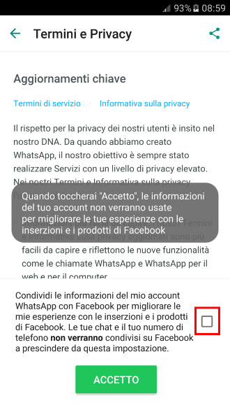 Whatsapp e Facebook - Dati incrociati 2