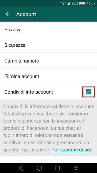 Whatsapp e Facebook - Dati incrociati 3
