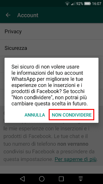 Whatsapp e Facebook - Dati incrociati 4