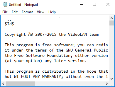 Vlc is unable to open the mrl - Notepad