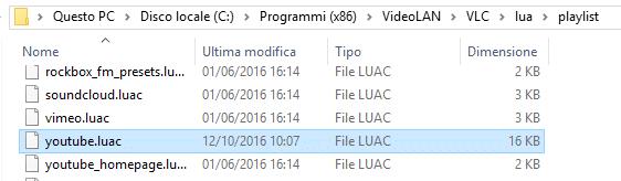 Vlc non è in grado di aprire il mrl - Percorso VLC youtube